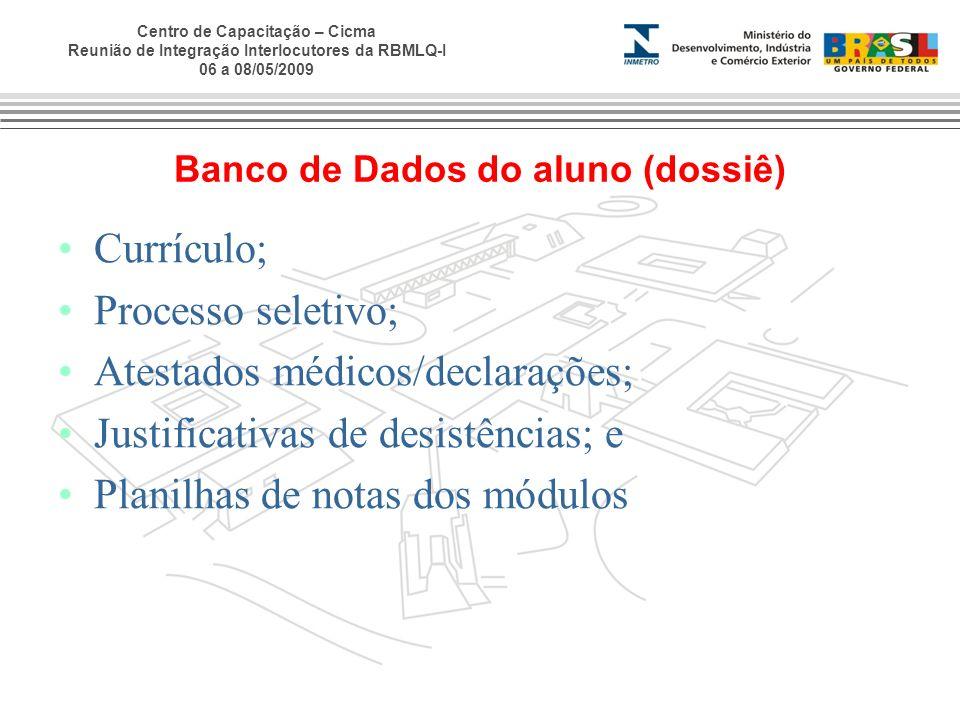 Banco de Dados do aluno (dossiê)