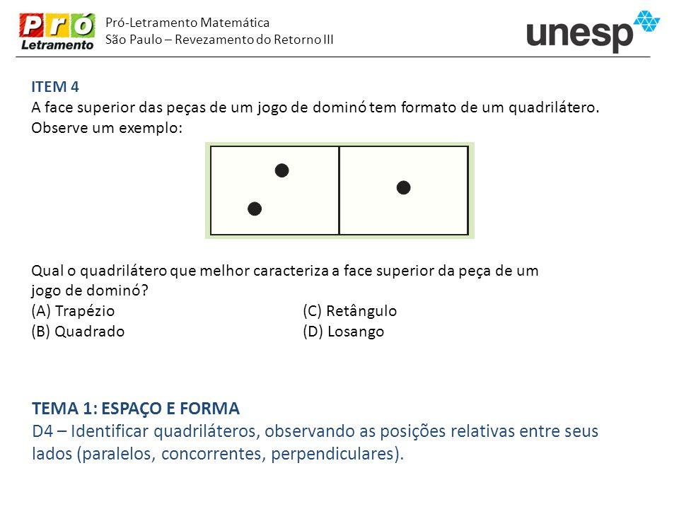 lados (paralelos, concorrentes, perpendiculares).