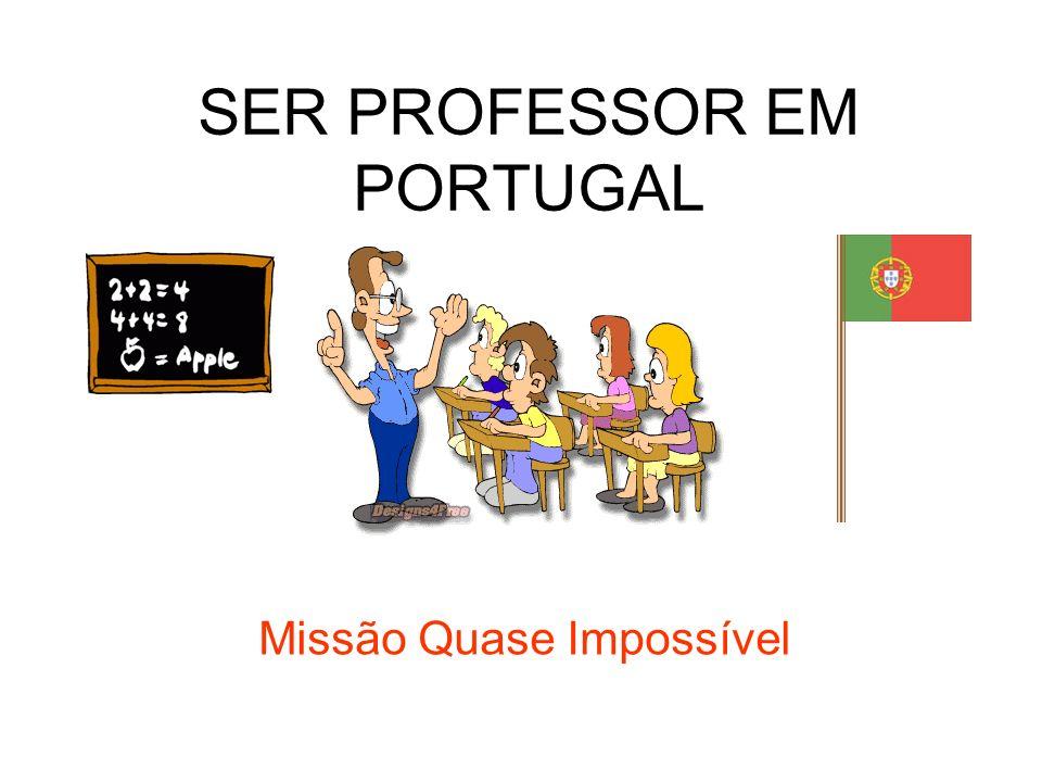 SER PROFESSOR EM PORTUGAL