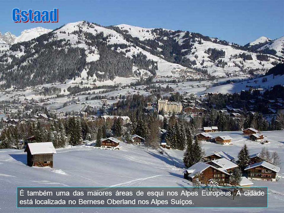 Gstaad É também uma das maiores áreas de esqui nos Alpes Europeus.