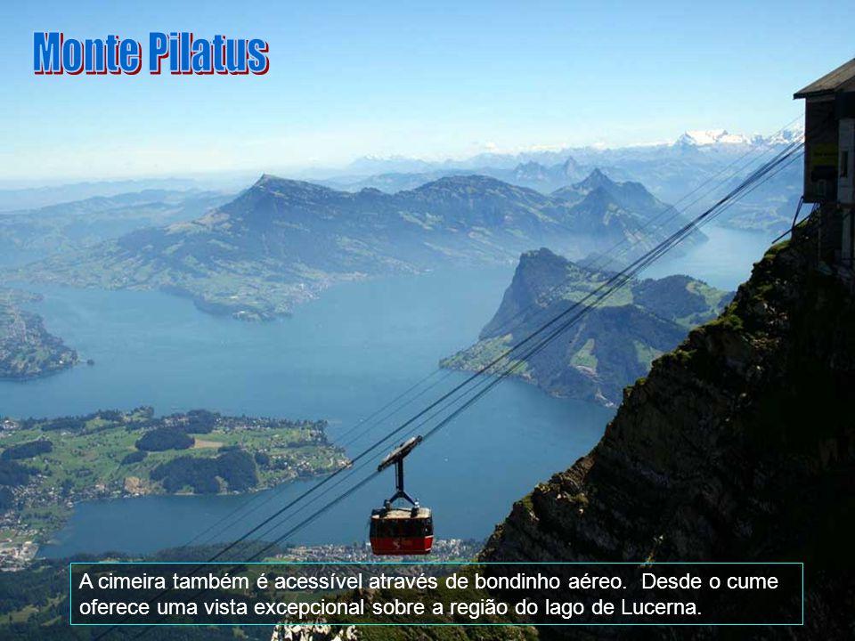 Monte Pilatus A cimeira também é acessível através de bondinho aéreo.