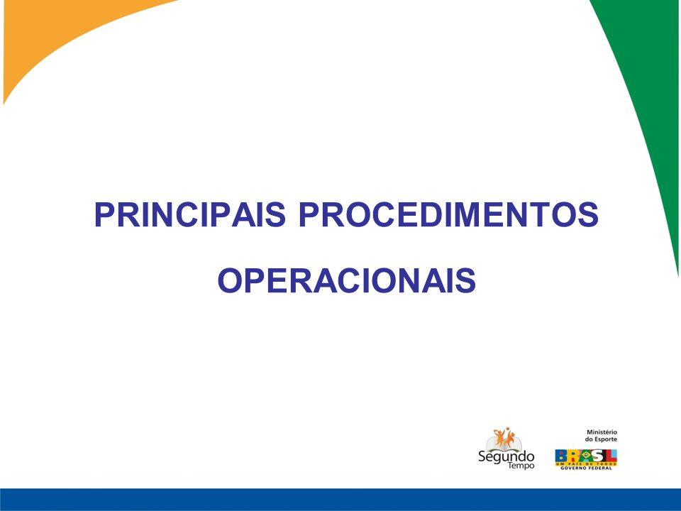 PRINCIPAIS PROCEDIMENTOS OPERACIONAIS