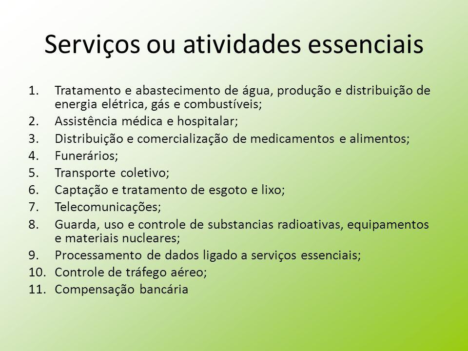 Serviços ou atividades essenciais