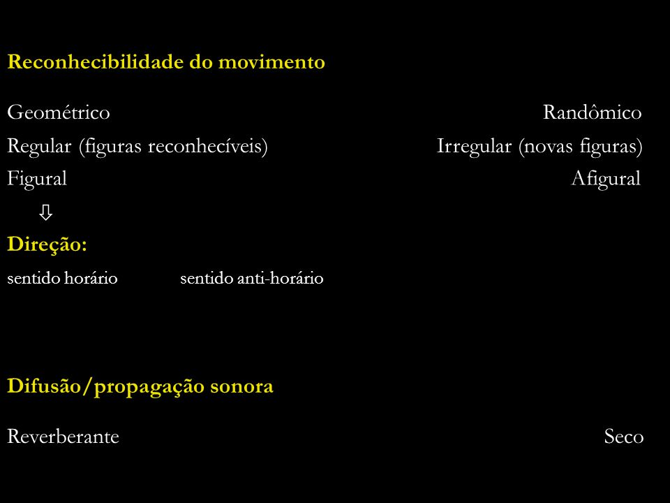 26 Reconhecibilidade do movimento Geométrico Randômico