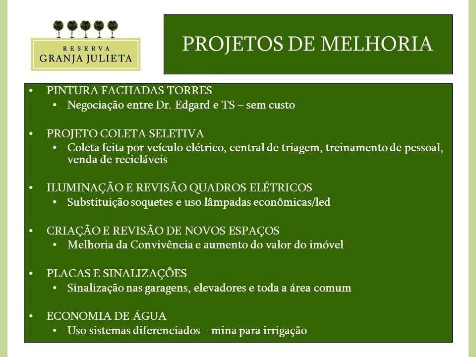 PROJETOS DE MELHORIA PINTURA FACHADAS TORRES