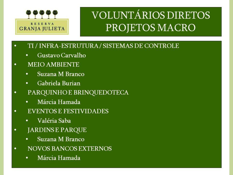 VOLUNTÁRIOS DIRETOS PROJETOS MACRO