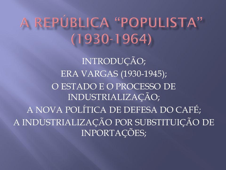 A REPÚBLICA POPULISTA (1930-1964)