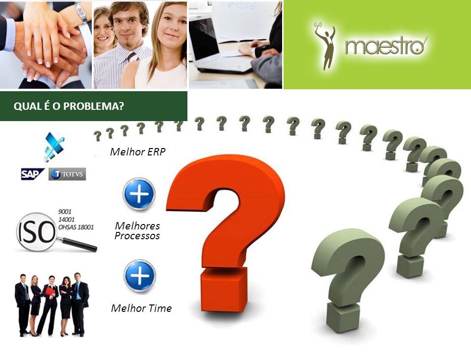 QUAL É O PROBLEMA Melhor ERP Melhores Processos Melhor Time