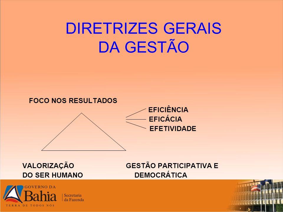 DIRETRIZES GERAIS DA GESTÃO