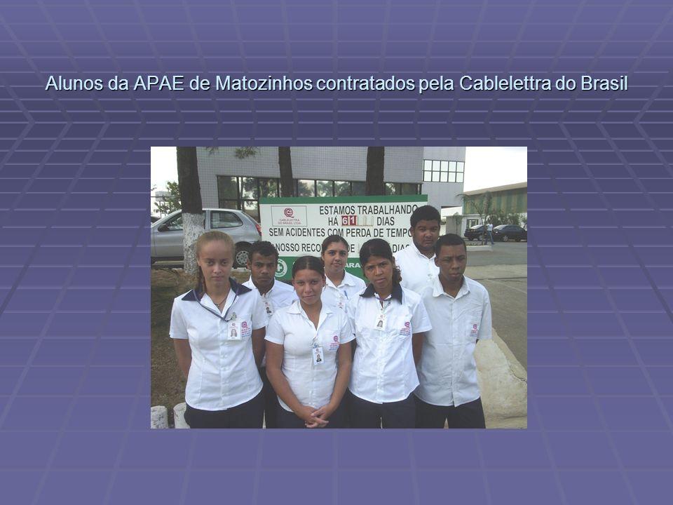 Alunos da APAE de Matozinhos contratados pela Cablelettra do Brasil