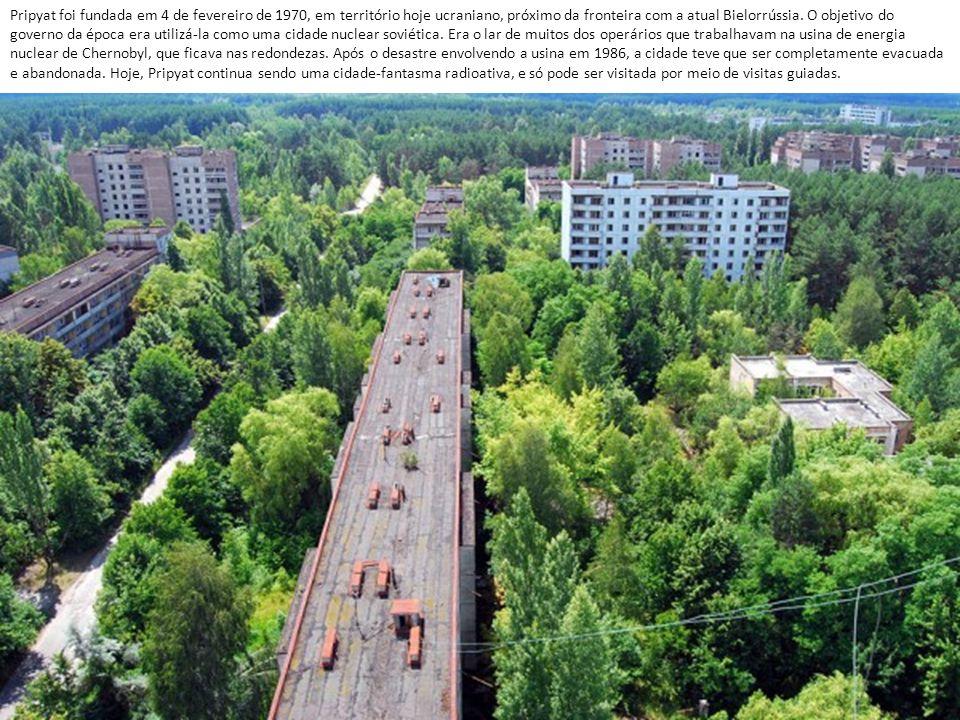 Pripyat foi fundada em 4 de fevereiro de 1970, em território hoje ucraniano, próximo da fronteira com a atual Bielorrússia.