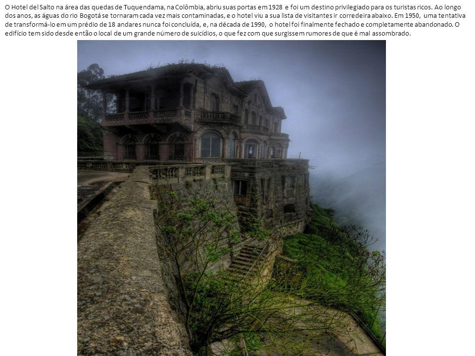 O Hotel del Salto na área das quedas de Tuquendama, na Colômbia, abriu suas portas em 1928 e foi um destino privilegiado para os turistas ricos.