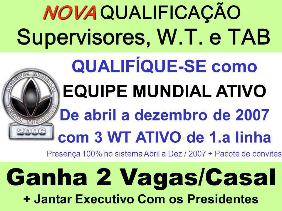 NOVA QUALIFICAÇÃO Supervisores, W.T. e TAB