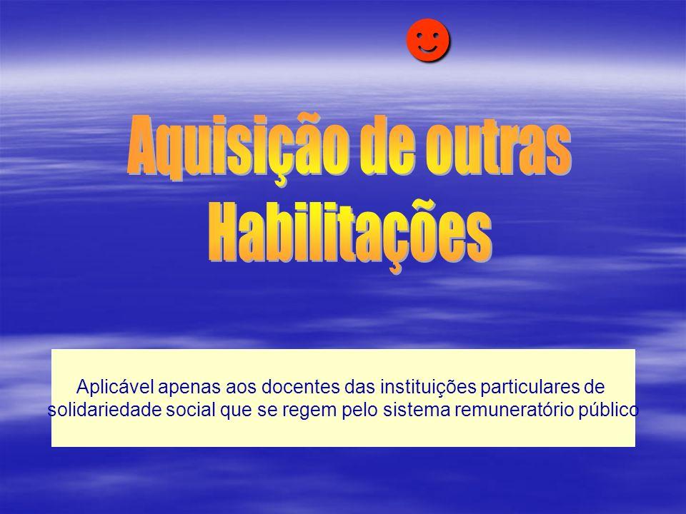 ☻ Aquisição de outras Habilitações