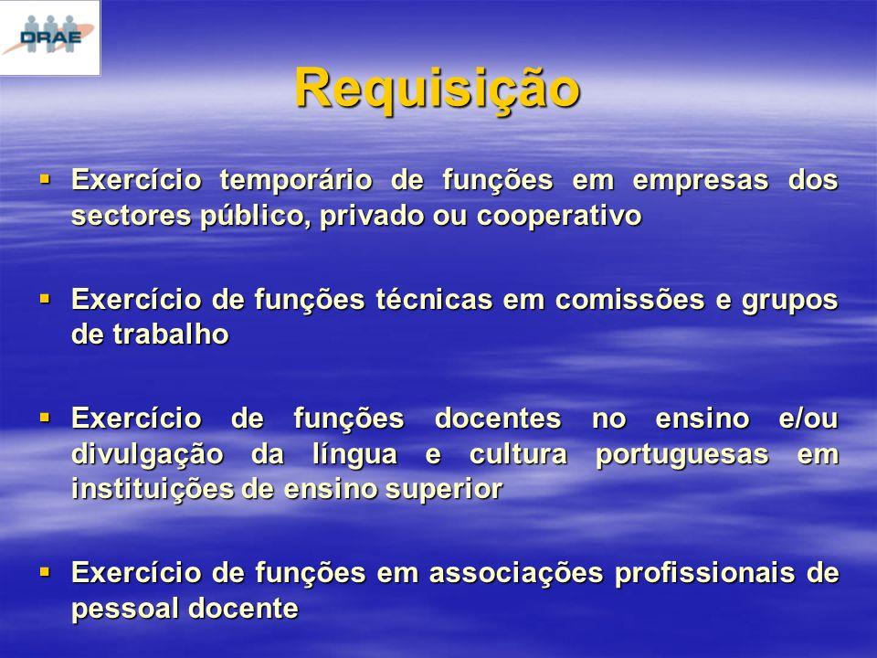 Requisição Exercício temporário de funções em empresas dos sectores público, privado ou cooperativo.