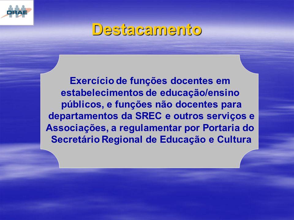 Destacamento Exercício de funções docentes em