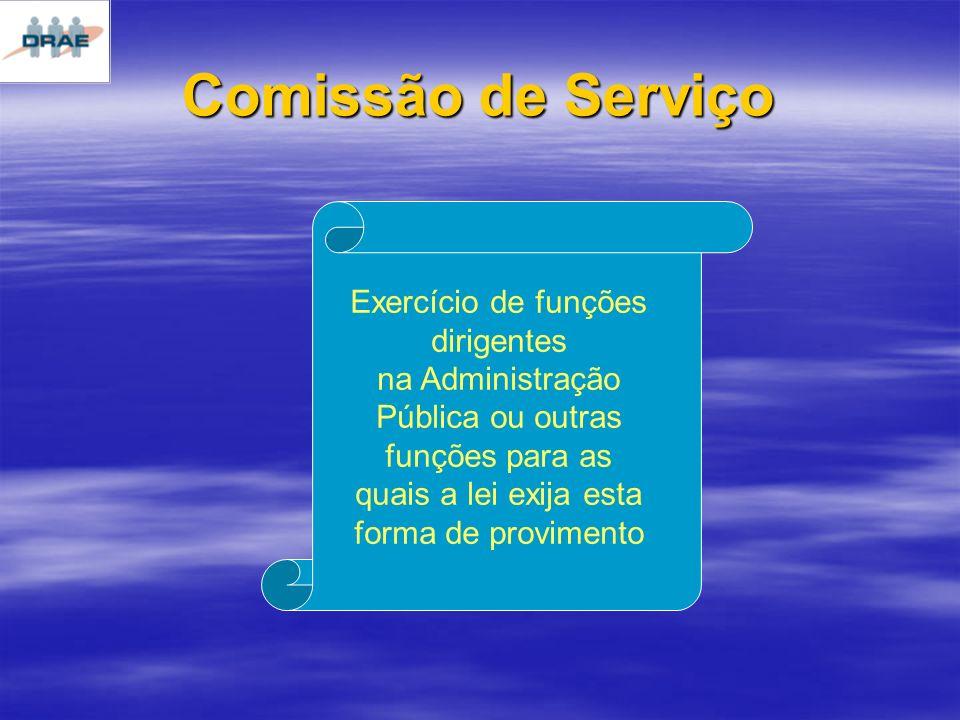 Comissão de Serviço Exercício de funções dirigentes