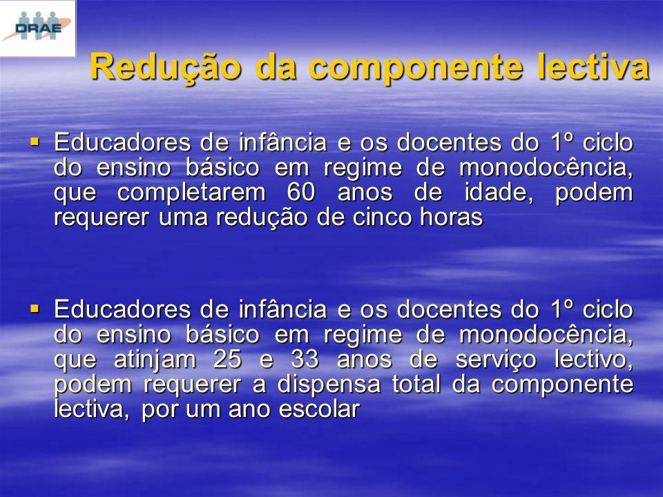 Redução da componente lectiva