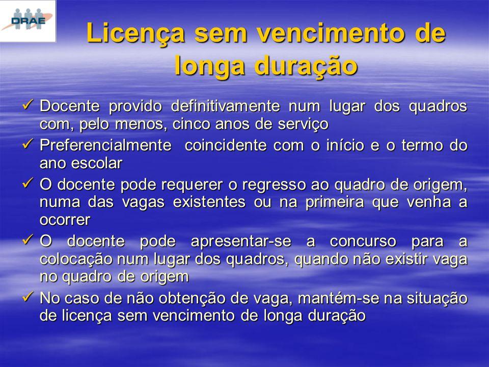 Licença sem vencimento de longa duração