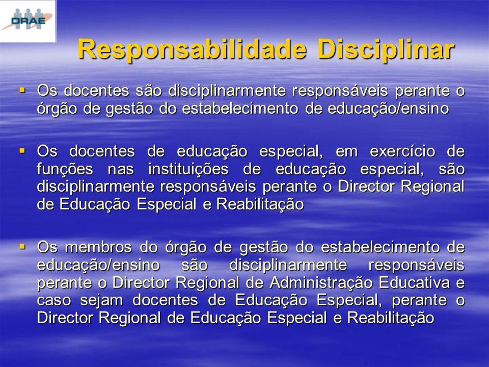 Responsabilidade Disciplinar