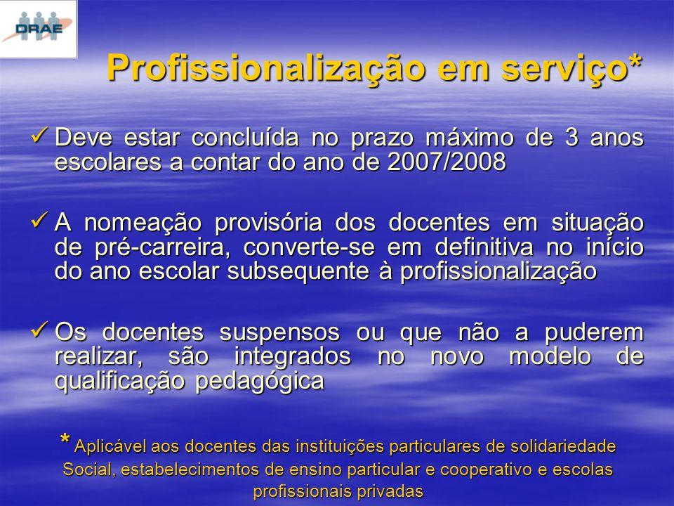 Profissionalização em serviço*