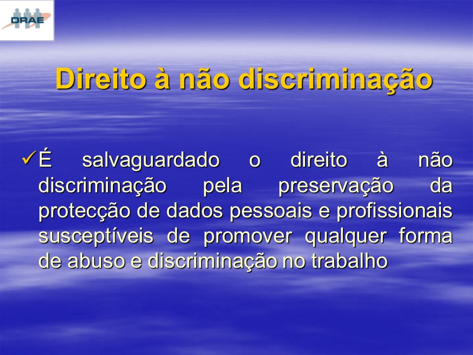 Direito à não discriminação