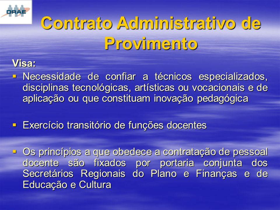 Contrato Administrativo de Provimento