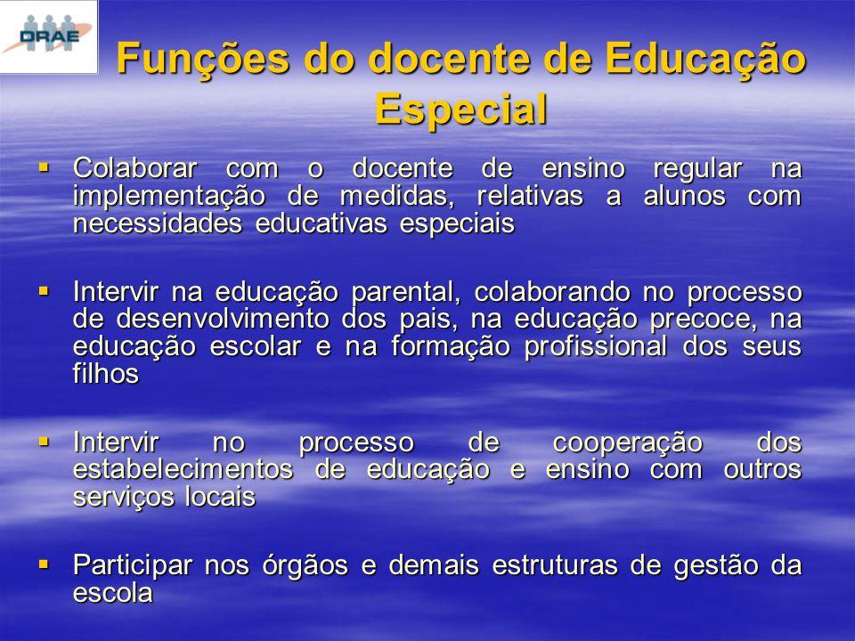 Funções do docente de Educação Especial