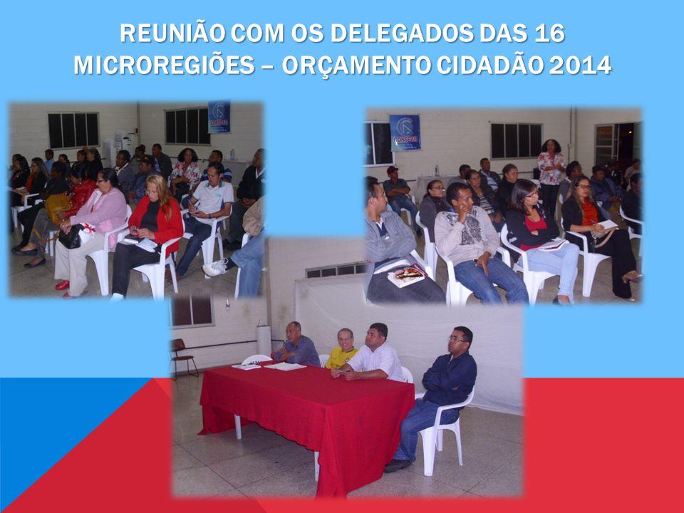 Reunião com os delegados das 16 microregiões – orçamento cidadão 2014