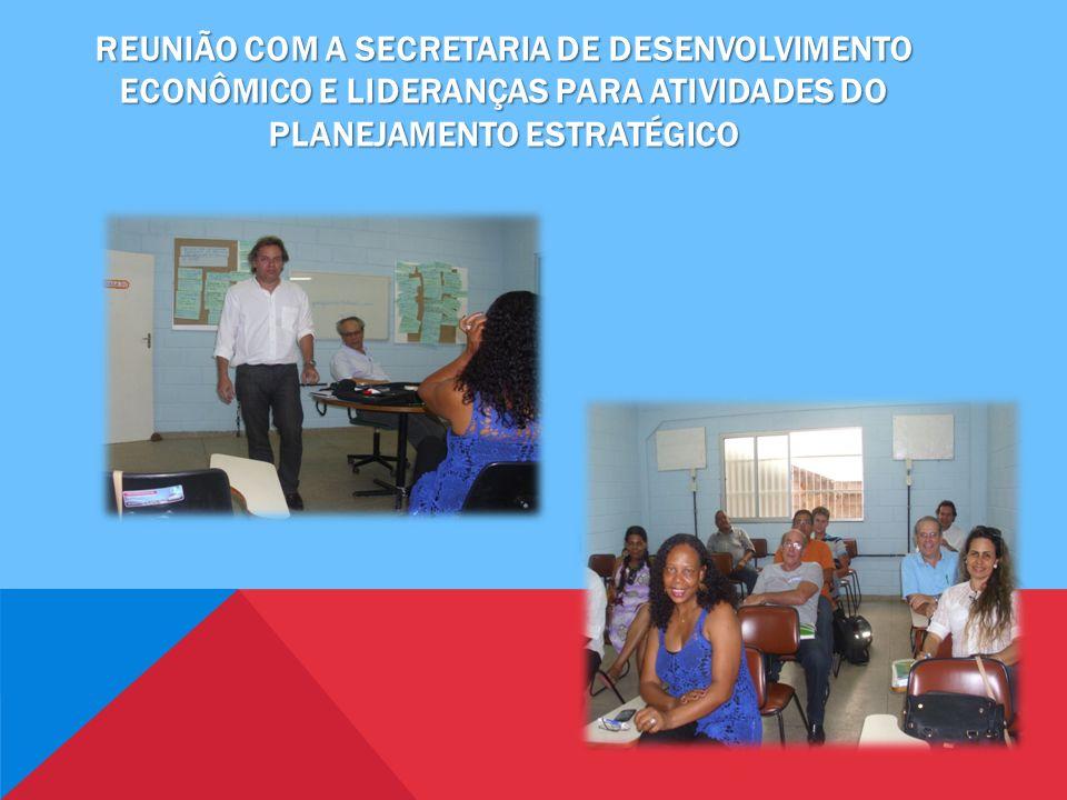 Reunião com a secretaria de desenvolvimento econômico e lideranças para atividades do planejamento estratégico