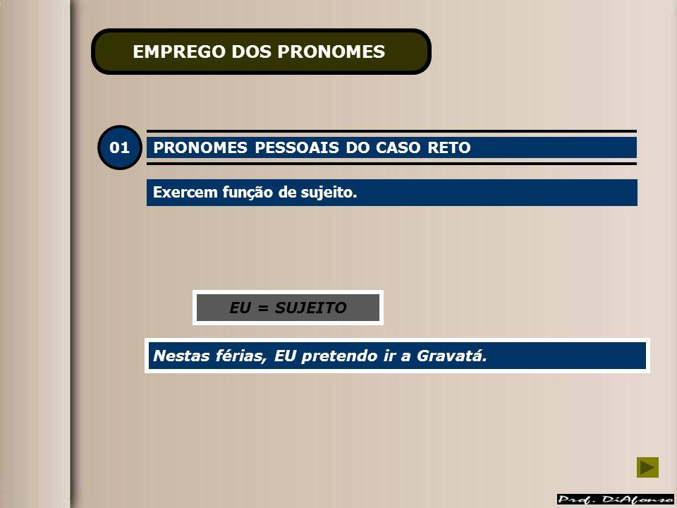 EMPREGO DOS PRONOMES 01 PRONOMES PESSOAIS DO CASO RETO
