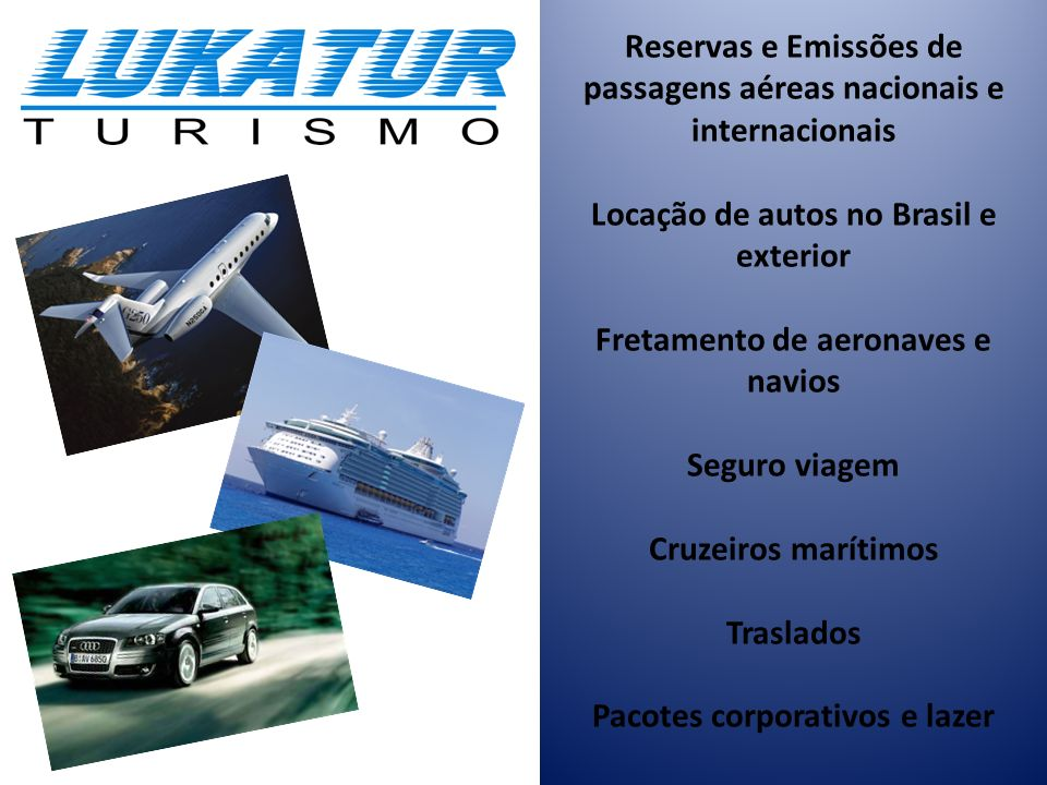 Reservas e Emissões de passagens aéreas nacionais e internacionais