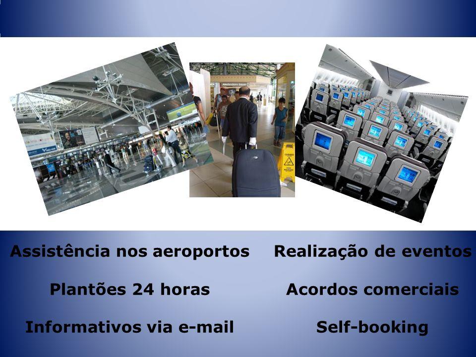Assistência nos aeroportos Informativos via e-mail