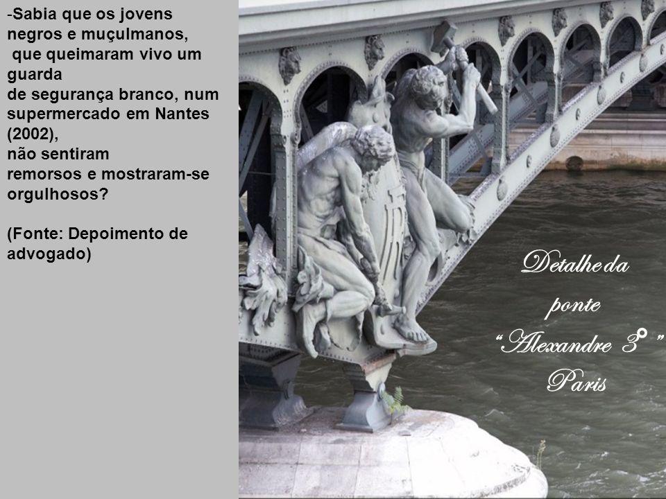 Detalhe da ponte Alexandre 3° Paris