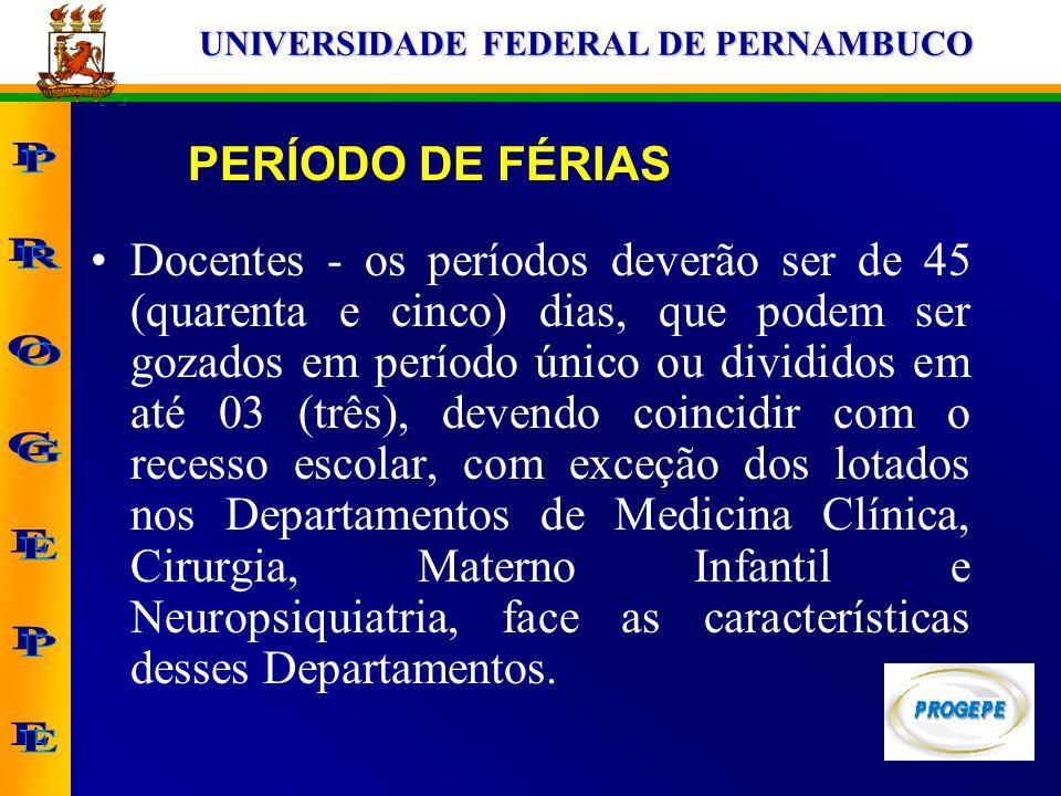 PERÍODO DE FÉRIAS