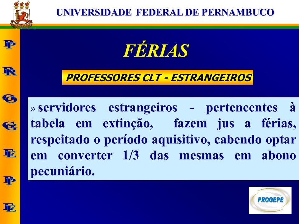 PROFESSORES CLT - ESTRANGEIROS