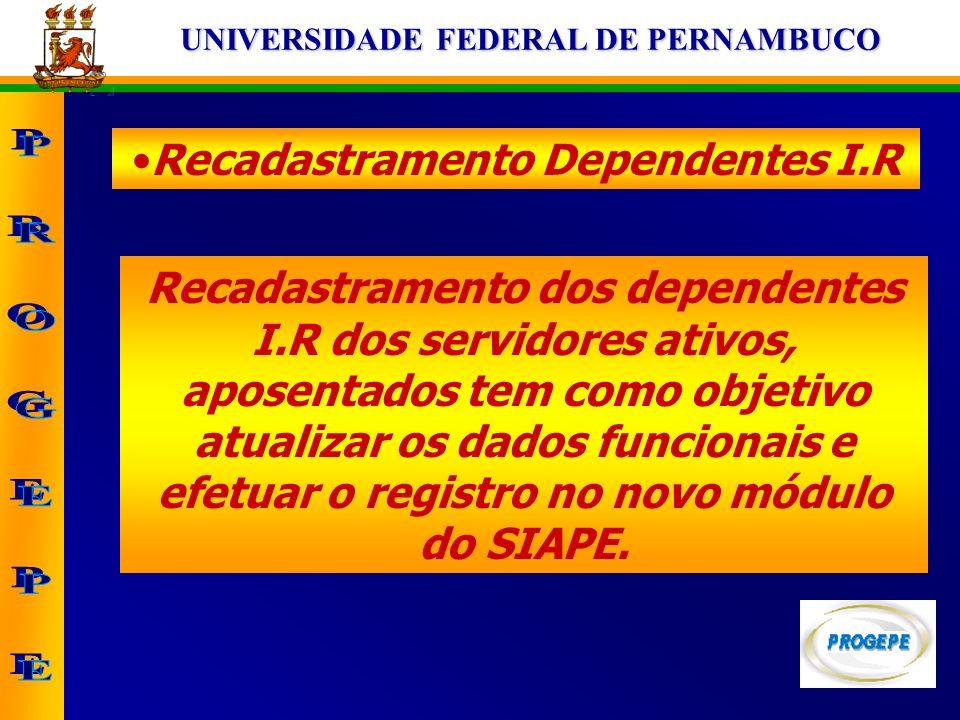 Recadastramento Dependentes I.R