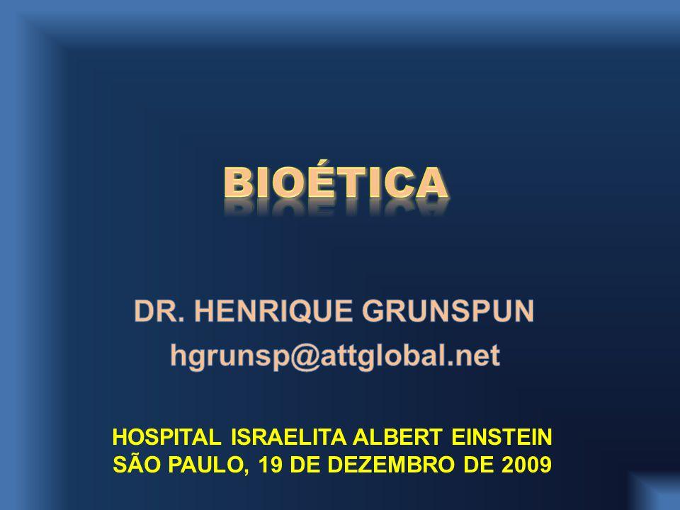 HOSPITAL ISRAELITA ALBERT EINSTEIN SÃO PAULO, 19 DE DEZEMBRO DE 2009
