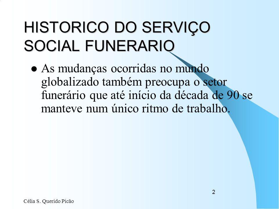 HISTORICO DO SERVIÇO SOCIAL FUNERARIO