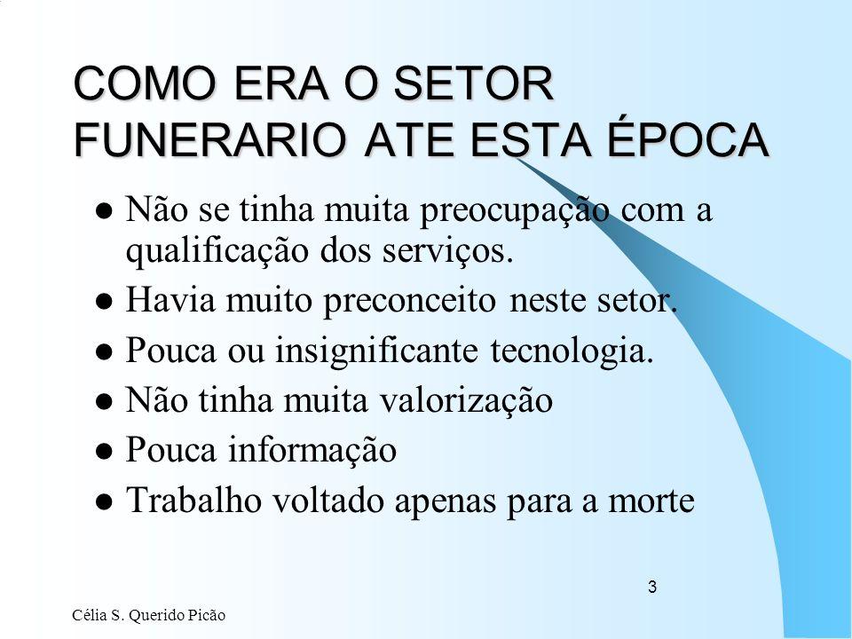 COMO ERA O SETOR FUNERARIO ATE ESTA ÉPOCA