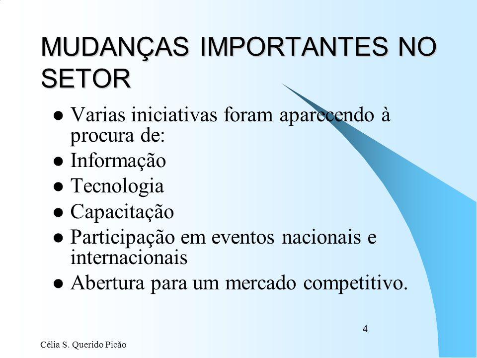 MUDANÇAS IMPORTANTES NO SETOR