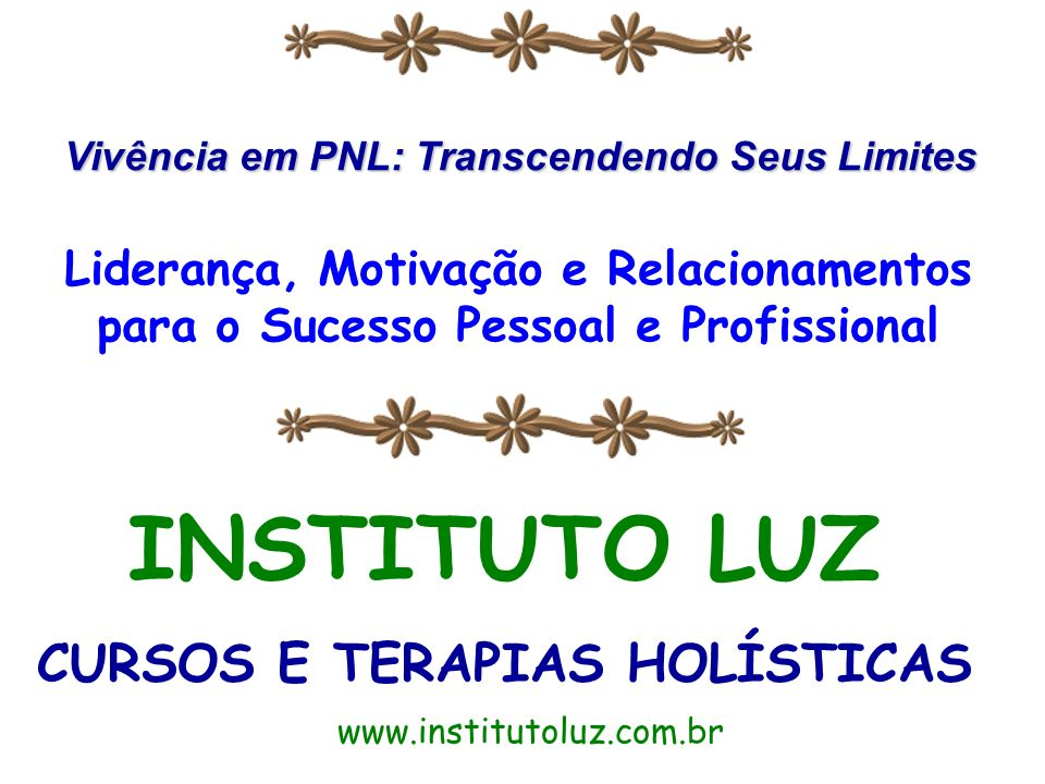 INSTITUTO LUZ CURSOS E TERAPIAS HOLÍSTICAS