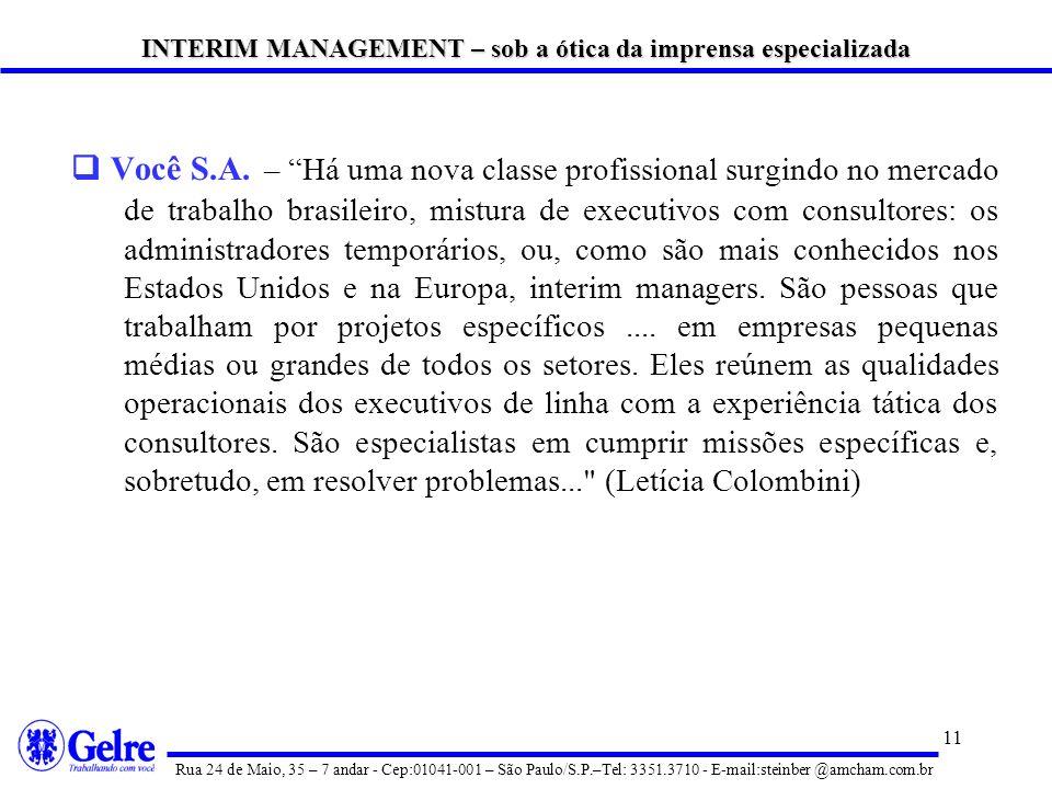 INTERIM MANAGEMENT – sob a ótica da imprensa especializada