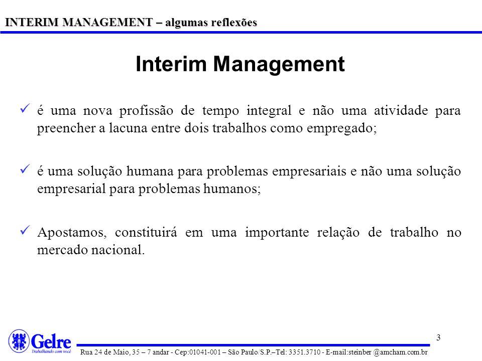 INTERIM MANAGEMENT – algumas reflexões