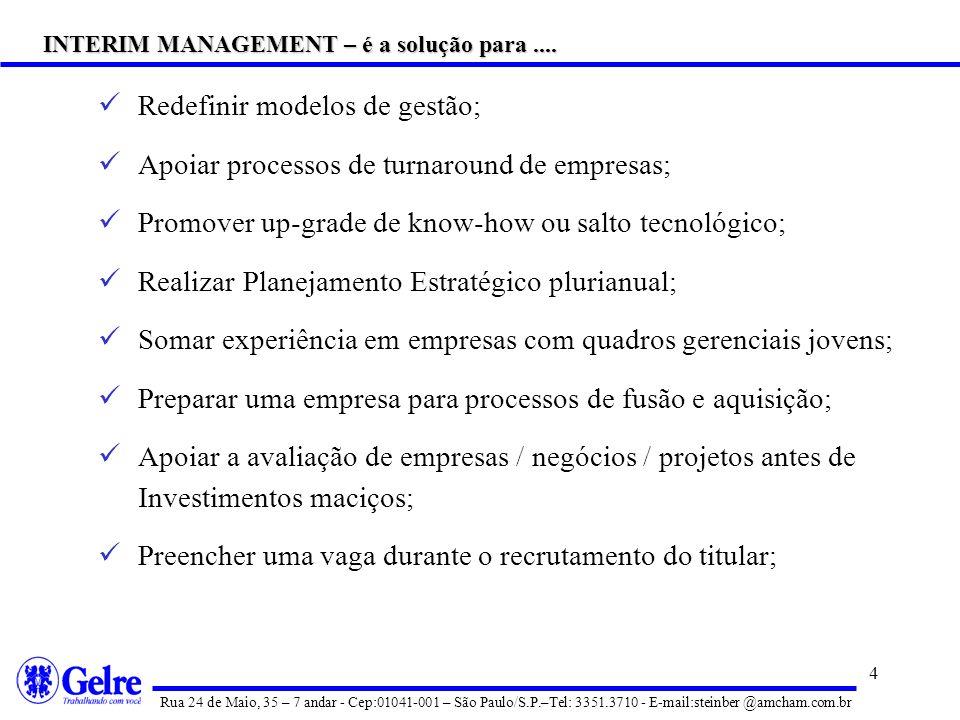 INTERIM MANAGEMENT – é a solução para ....