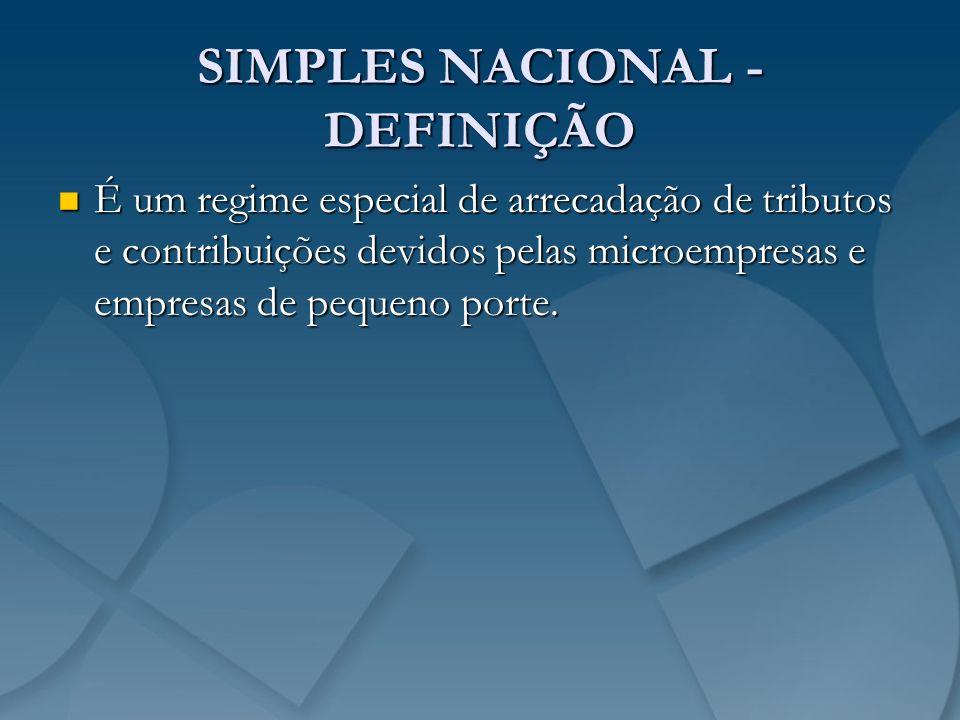 SIMPLES NACIONAL - DEFINIÇÃO