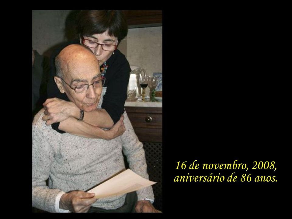 16 de novembro, 2008, aniversário de 86 anos.