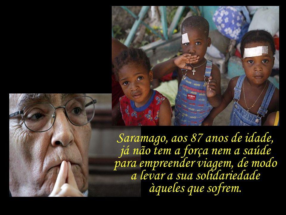 Saramago, aos 87 anos de idade,