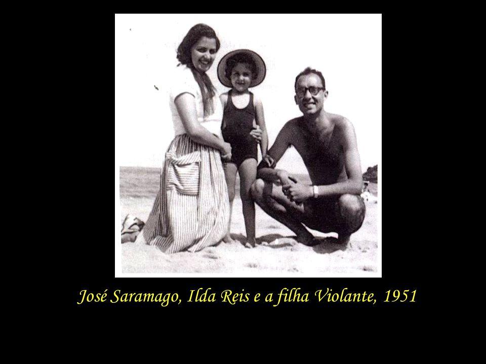 José Saramago, Ilda Reis e a filha Violante, 1951
