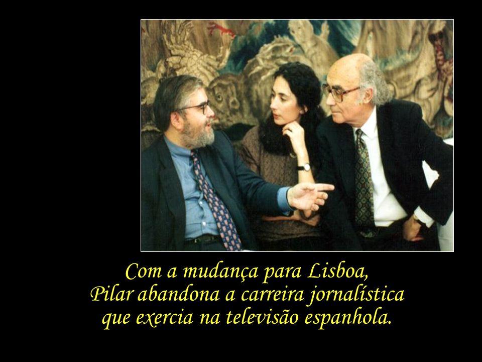 Com a mudança para Lisboa, Pilar abandona a carreira jornalística que exercia na televisão espanhola.